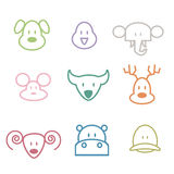 Animals zoo icons Stock Image