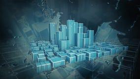 Animação da cidade vídeos de arquivo
