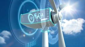 Animação da turbina eólica vídeos de arquivo