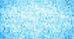 A animação de Digitas da ondinha dos cáusticos da parte inferior da piscina e o fluxo com fundo do movimento das ondas, dão laços filme