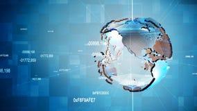 Animação do globo do negócio vídeos de arquivo