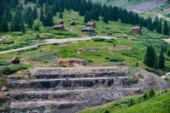 Animas Forks Ruins Colorado stock photography