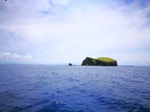 Animasola Island - the mother and child dragons. The solitary islands of Animasola Islands in Masbate Philippines. Regarded as mother and child dragons stock images
