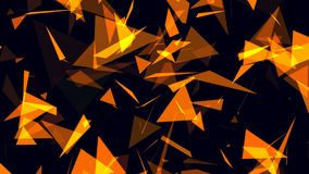 Animated abstract background with brown figures stock illustration