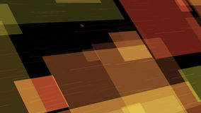 Animated abstract computer background with rectangles. Animated abstract computer background with yellow and brown rectangles with variable sizes on a black stock video