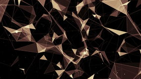 Animated abstract computer background with triangles. Animated abstract computer background with brown triangles with variable sizes on a black background stock footage