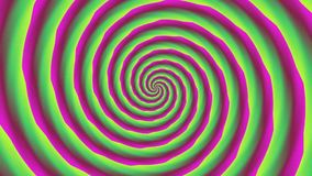 Animated abstract illustration of bright colorful spirals rotating on white background. Colorful animation, stock video