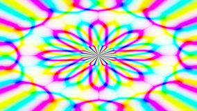 Animated abstract illustration of bright colorful spirals rotating on white background. Colorful animation stock video footage