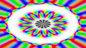 Animated abstract illustration of bright colorful spirals rotating on white background. Colorful animation stock video