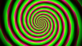 Animated abstract illustration of bright colorful spirals rotating on white background. Colorful animation, stock footage