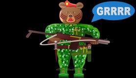 Animated animal warriors illustration,bear. Animated animal warriors illustration bear,best royalty free illustration
