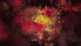 Dark red and yellow watercolor background appears on the alpha channel. The animated appearance of a watercolor background. The file contains an alpha channel stock video footage