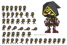 Animated Assassin Character Sprites