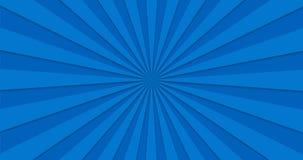 Animated background of blue rotating rotating beams. Loopable.