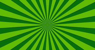 Animated background of green rotating beams.  vector illustration