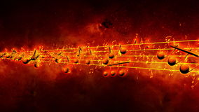 Animated background with musical notes, Music note stock video