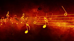 Animated background with musical notes, Music notes