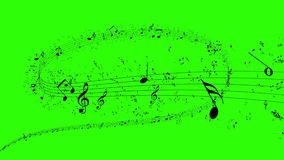 Animated background with musical notes, Music notes. Flowing, flying stream of Music Notes in 4k format stock video footage