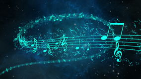 Animated background with musical notes, Music notes - LOOP