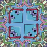 Background abstract cartoon  -   shy face looking you stock illustration