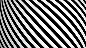 Animated background with white and black lines. 3d rendering Stock Photo