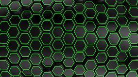 Animated Black Honeycombs stock video
