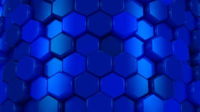 Animated Blue Honeycombs stock video footage