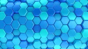 Animated Blue Honeycombs stock footage