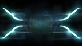 Animated Blue Lightning Bolt Strike On Black Background Seamless Loop Animation New Quality Unique Nature Light