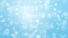 Glowing animated blue bokeh background stock video
