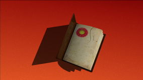 Animated book with turning pages