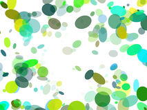 Animated bubbles frame Stock Photo