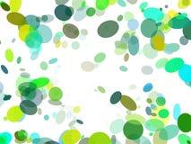 Animated bubbles frame. On white background Stock Photo