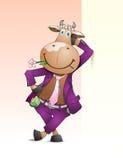 Animated bull. Royalty Free Stock Photo