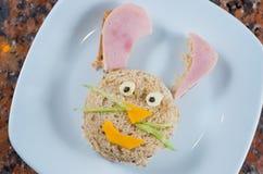 Animated bunny plate Stock Image