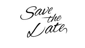 Save the Date. Calligraphic title with Alpha Channel