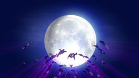 Animated cartoon Halloween background