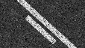 Animated center line down a two way street Royalty Free Stock Photo