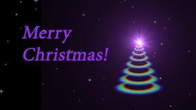 Animated Christmas tree stock video footage