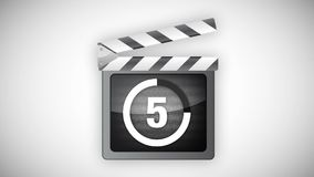 Animated clapperboard royalty free illustration