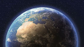 An animated clip of a rotating Earth. stock video