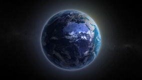 An animated clip of a rotating Earth. stock video footage