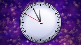 Animated clock stock video footage