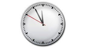 Animated clock stock footage