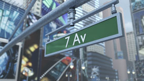Animated close-up of road sign on Time Square New York Manhattan. 3D rendering. 3D rendering of a close-up of road sign on Time Square New York Manhattan. The Stock Photography