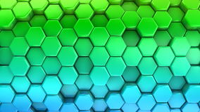 Animated Colored Honeycombs stock video