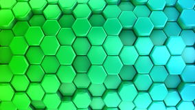 Animated Colored Honeycombs stock footage
