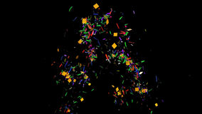 Animated confetti stock footage