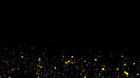 Animated confetti stock video footage
