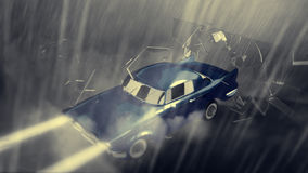 Animated cool car Royalty Free Stock Photography
